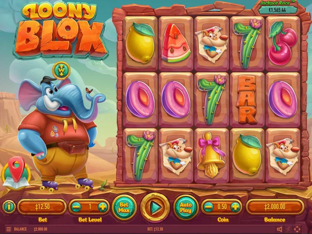 Loony Blox Slot by Habanero screenshot