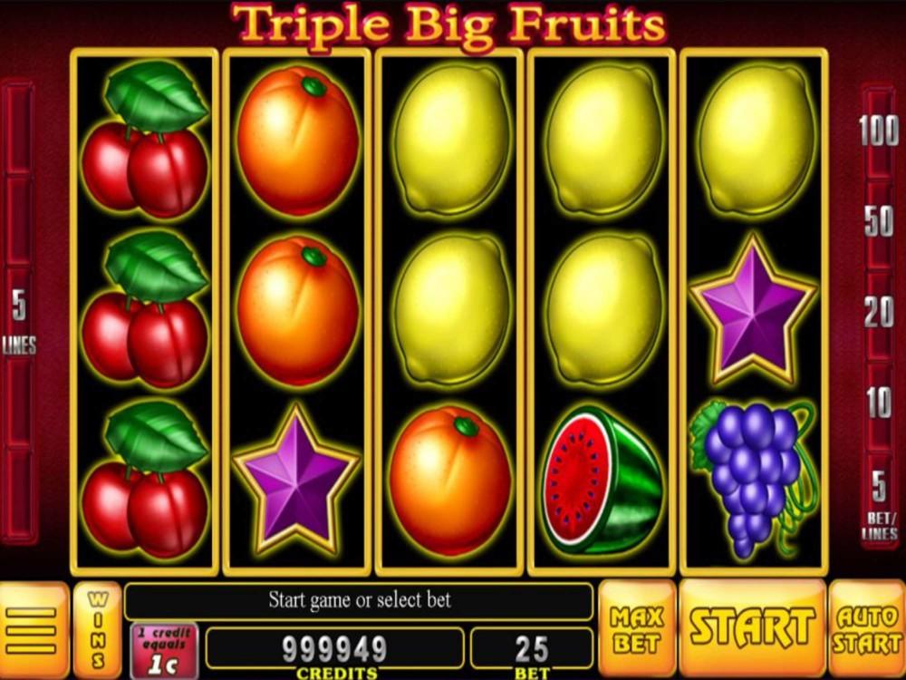 Triple Big Fruits Slot by Noble Gaming screenshot