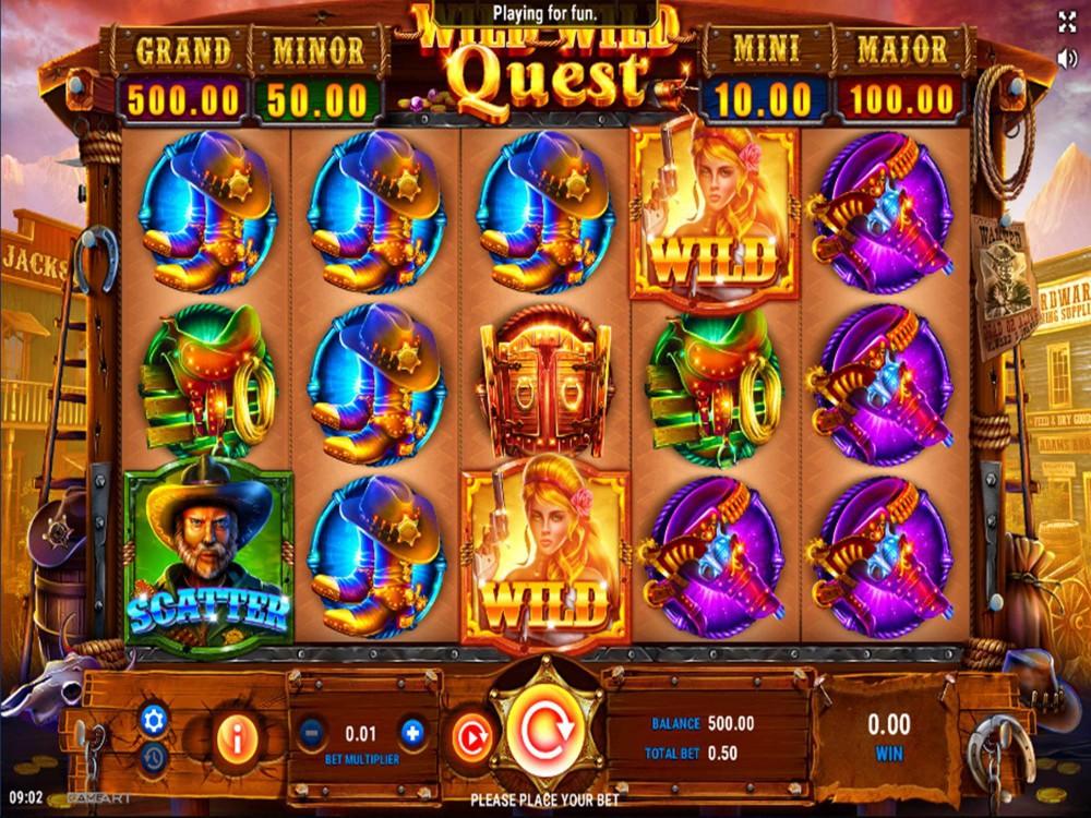 Wild Wild Quest Slot by GameArt screenshot