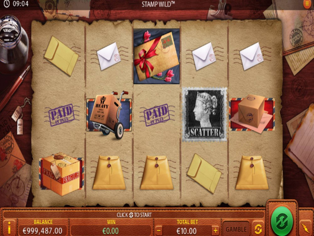 Stamp Wild Slot by Green Jade Games screenshot