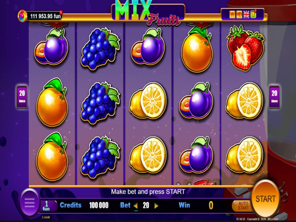 Mix Fruits Slot by Belatra Games screenshot