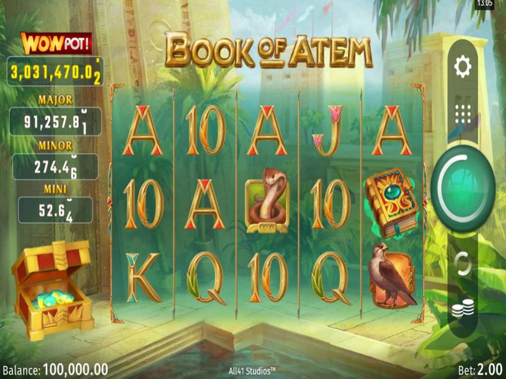 Book Of Atem WowPot Slot by All41 Studios screenshot