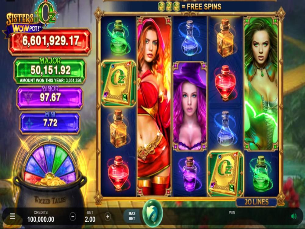 Sisters Of Oz: Wowpot Slot by Triple Edge Studios screenshot