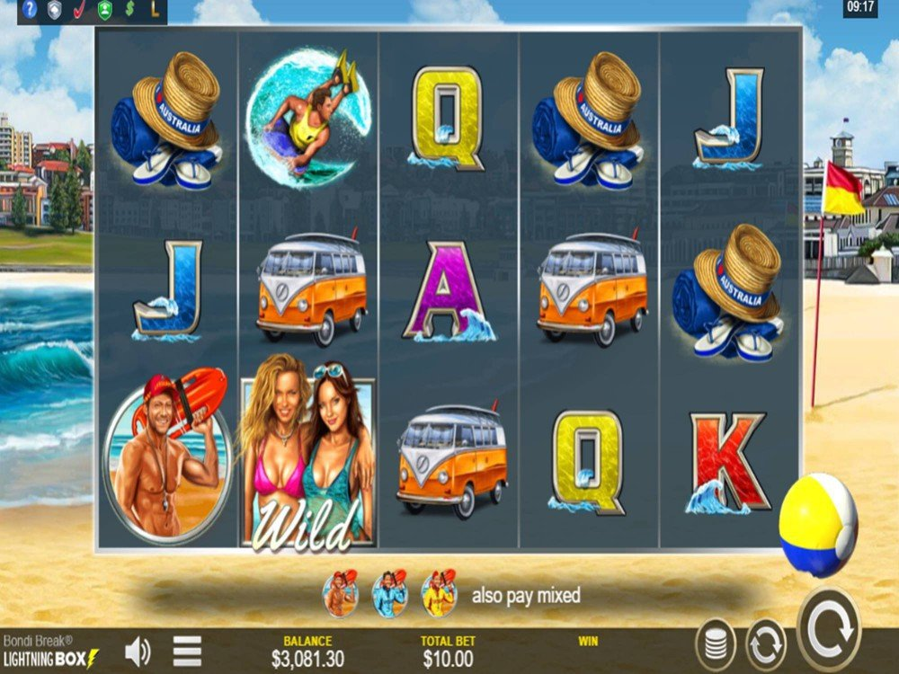 Bondi Break Slot by Lightning Box screenshot