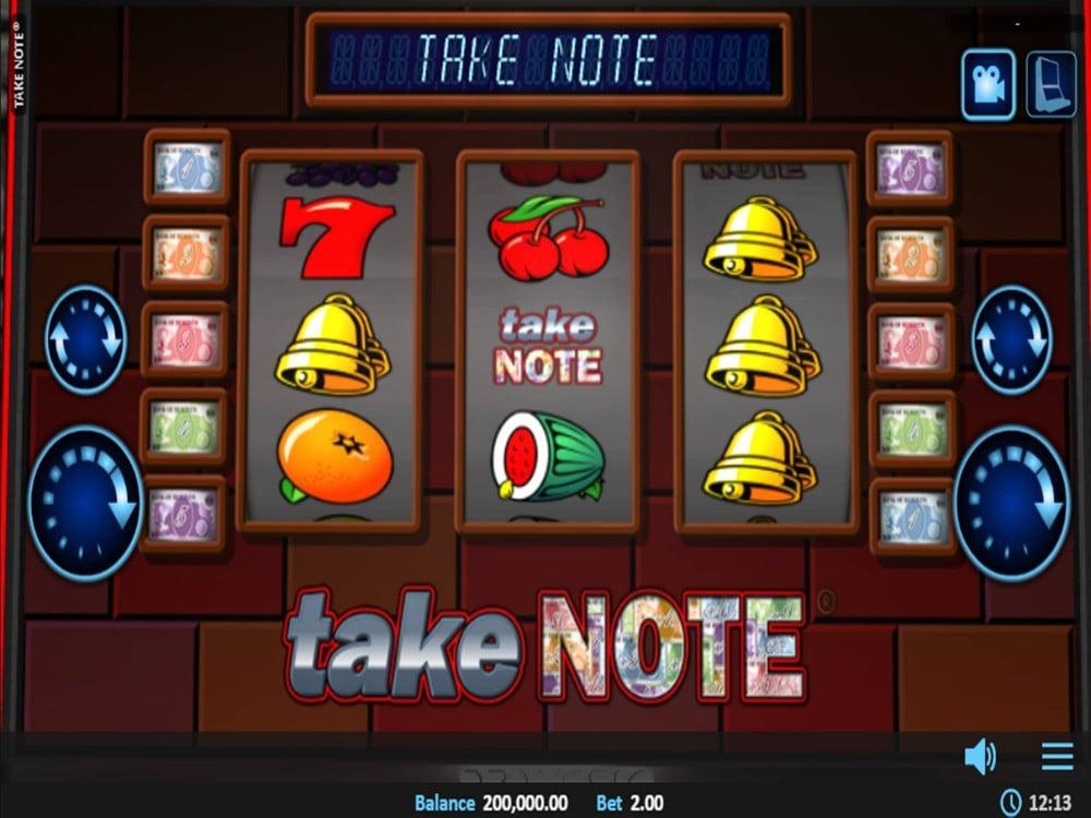 Take Note Slot by Realistic Games screenshot