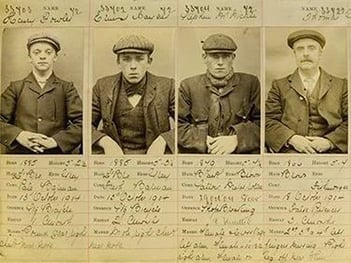 Mug shots of real Peaky Blinders