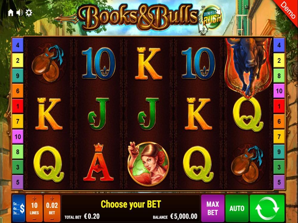 Books & Bulls Double Rush Slot by Gamomat screenshot