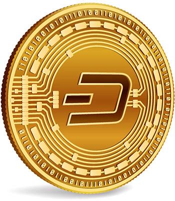 Dash cryptocurrency logo