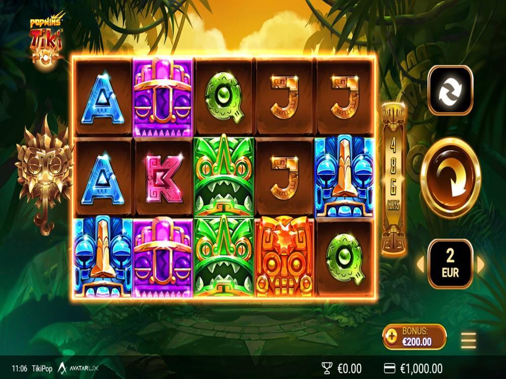 TikiPop Slot by AvatarUX Studios screenshot