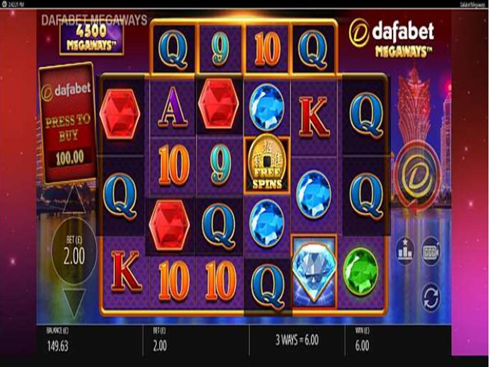 Dafabet Megaways Slot by Blueprint Gaming screenshot