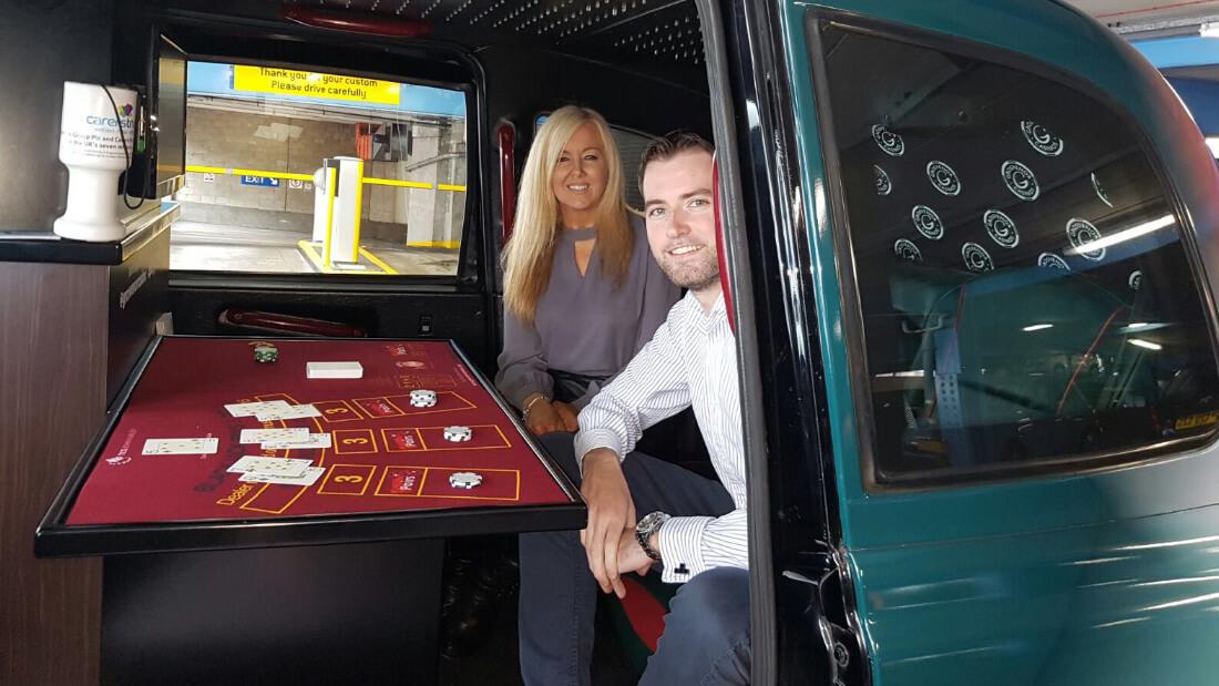 Grosnevor - casino in a UK taxicab