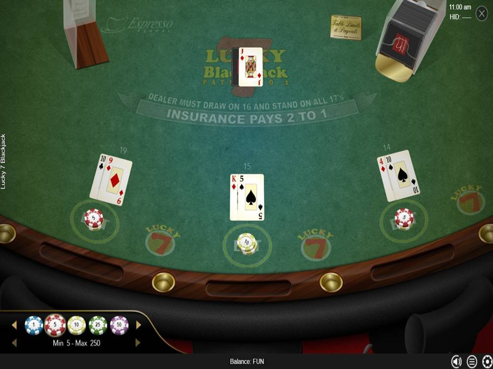 Lucky 7 Blackjack by Espresso Games screenshot