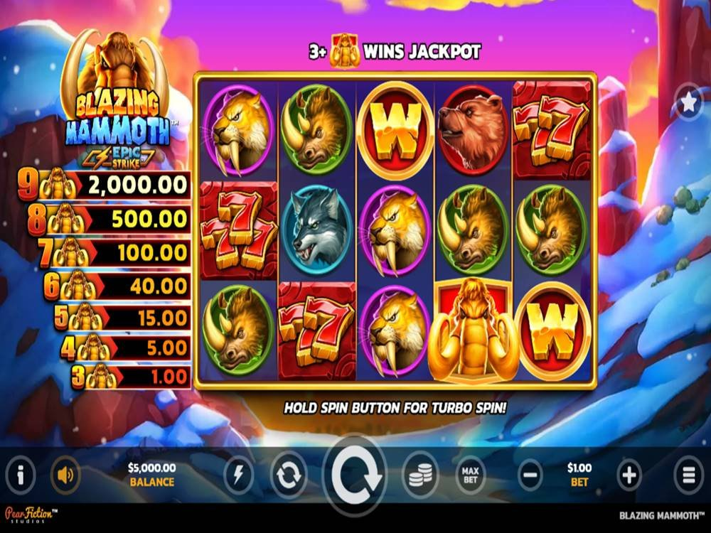 Blazing Mammoth Slot by PearFiction Studios screenshot