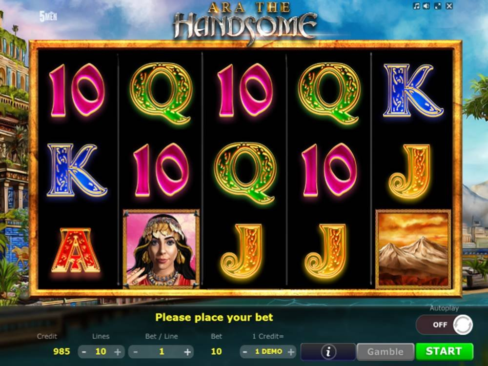 Ara The Handsome Slot by Five Men Gaming screenshot