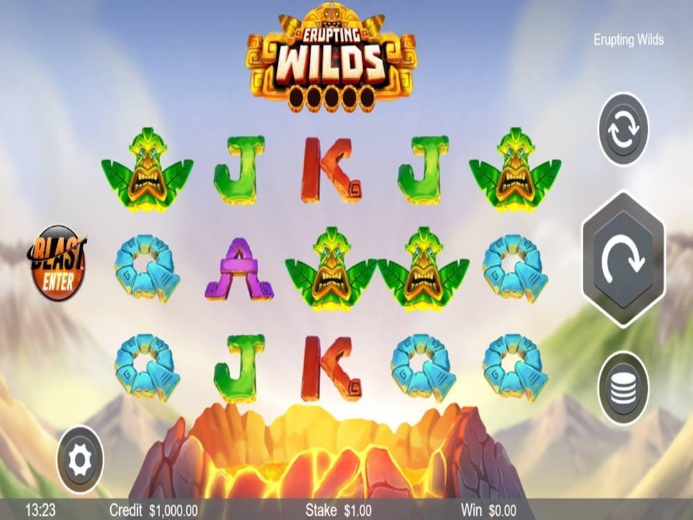 Erupting Wilds Slot by Live 5 Gaming screenshot