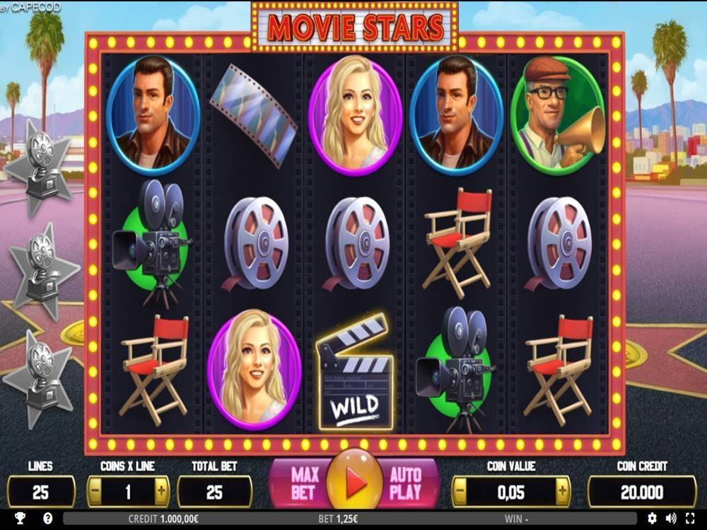 Movie Stars Slot by Capecod Gaming screenshot