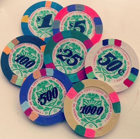 Chips from the fictional Casino de Isthmus City