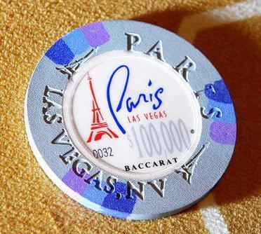 $100,000 Paris Las Vegas casino chip
