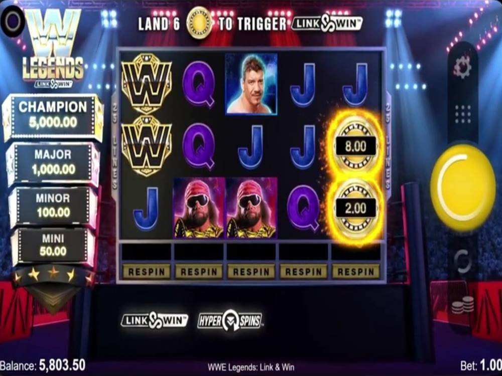 WWE Legends: Link&Win Slot by All41 Studios screenshot