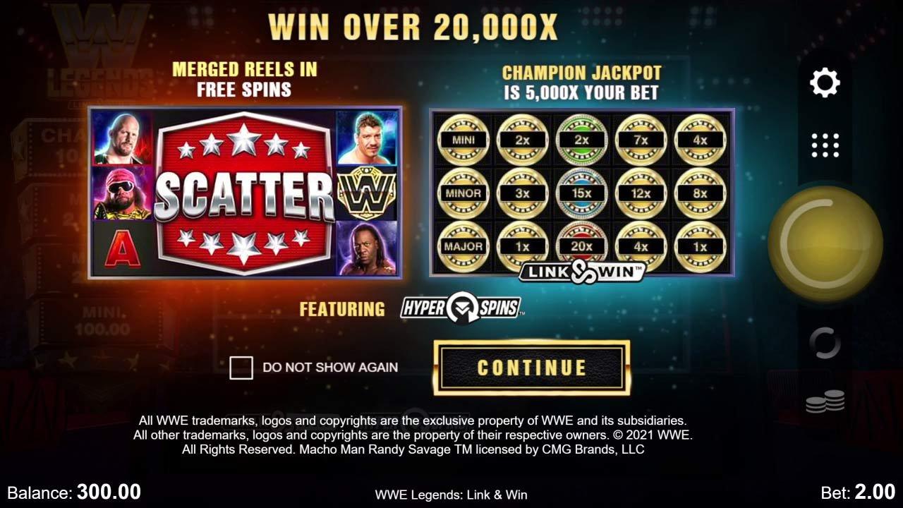 WWE Legends: Link & Win Bonus