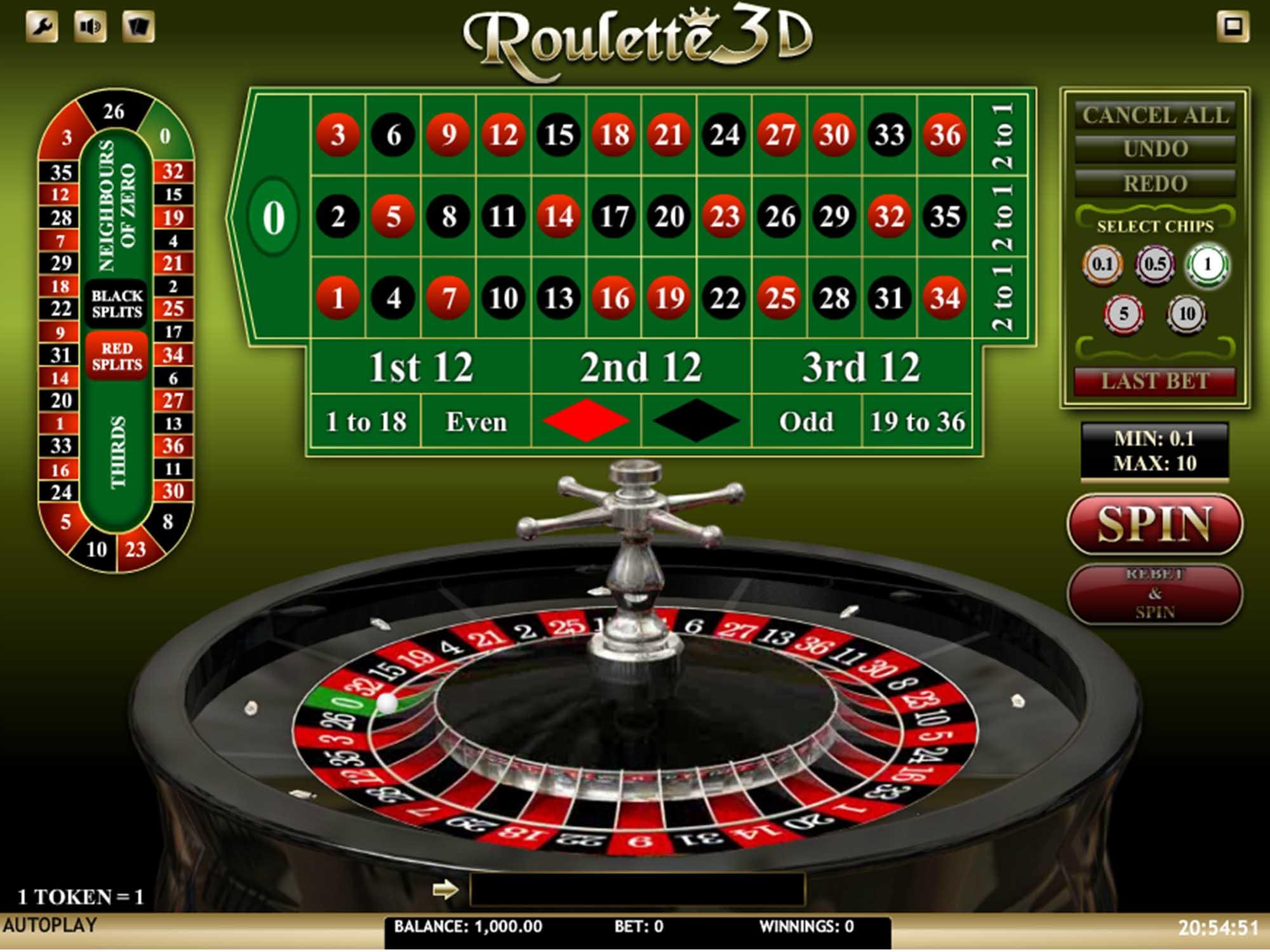Roulette 3D screenshot