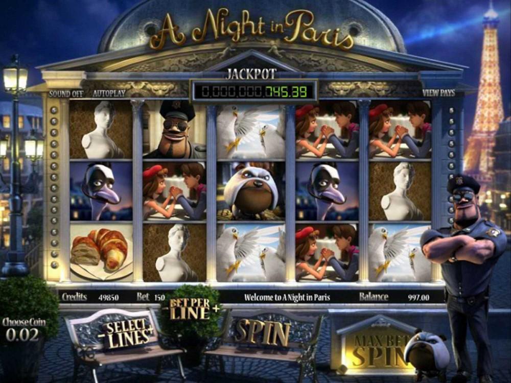 A Night In Paris Jackpot Slot screenshot