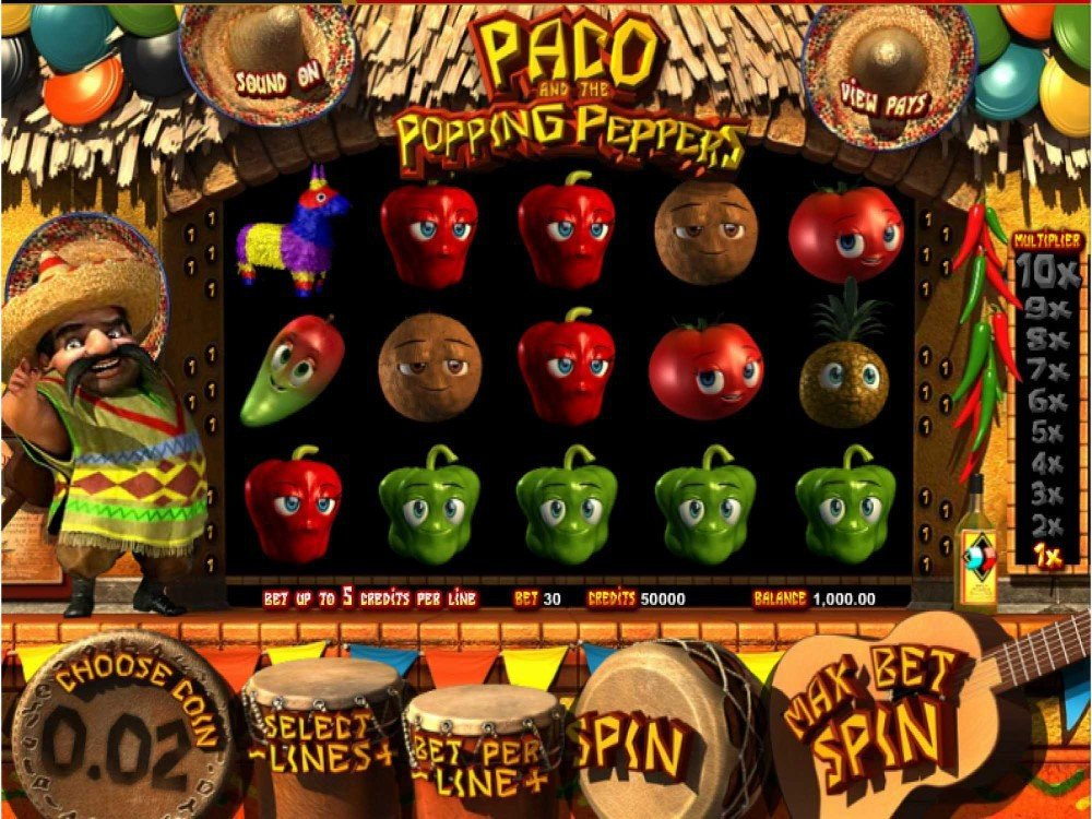 Paco and the Popping Peppers Slot screenshot