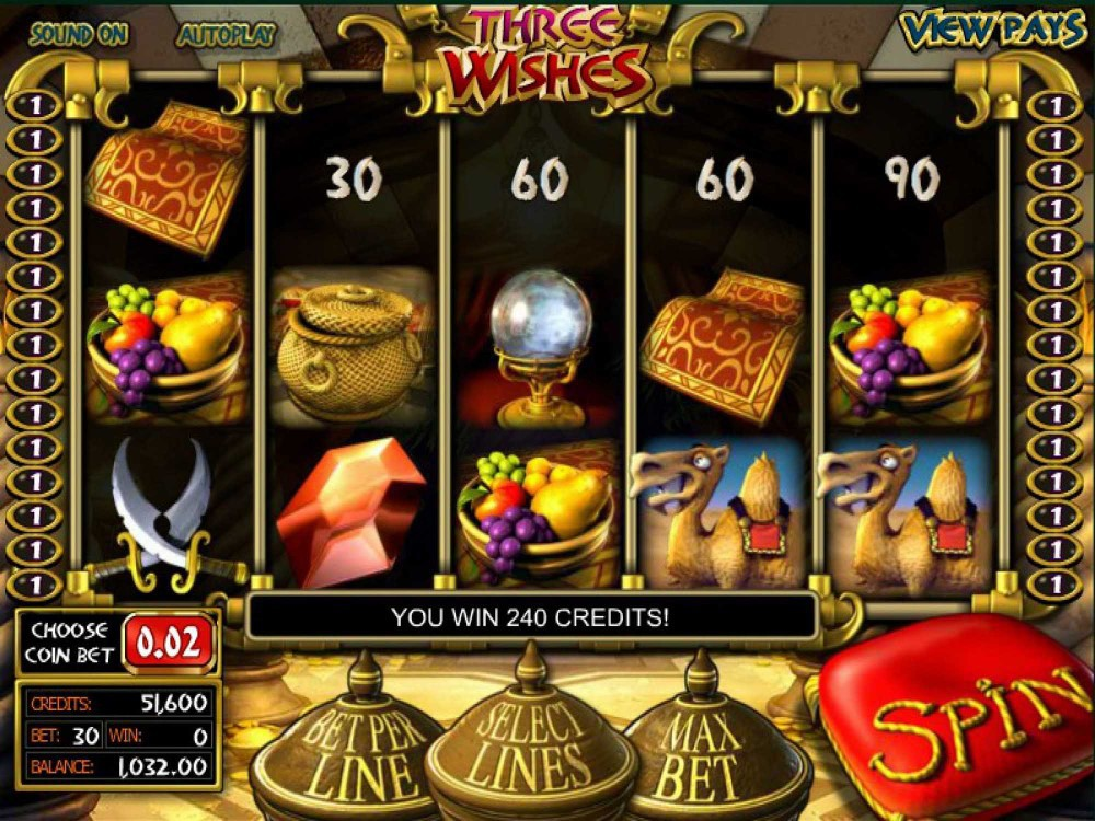 Three Wishes Slot screenshot