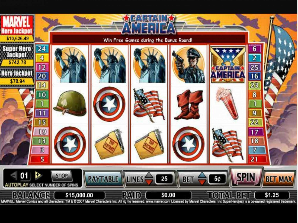Captain America Slot by Cryptologic screenshot