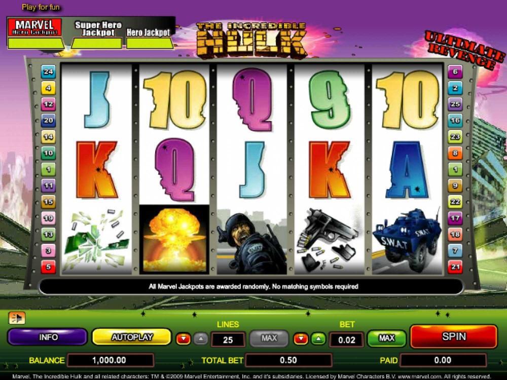 The Incredible Hulk Slot screenshot