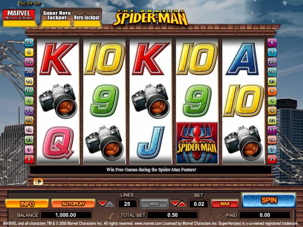 Spiderman Slot by Amaya screenshot