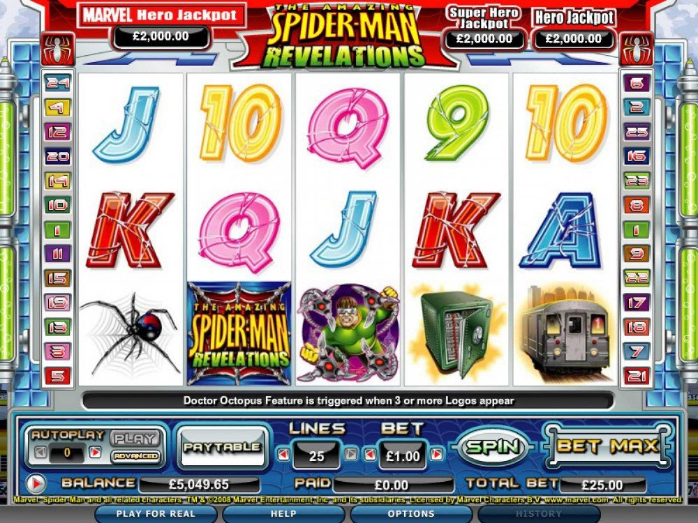 Spider Man Revelations Slot screenshot