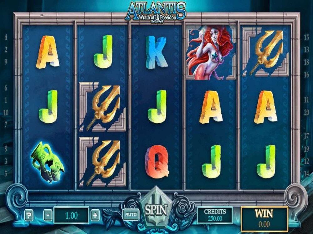 Atlantis Wrath of Poseidon Slot screenshot