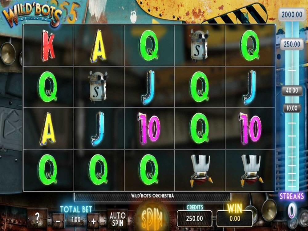 Wild Bots Orchestra Slot screenshot