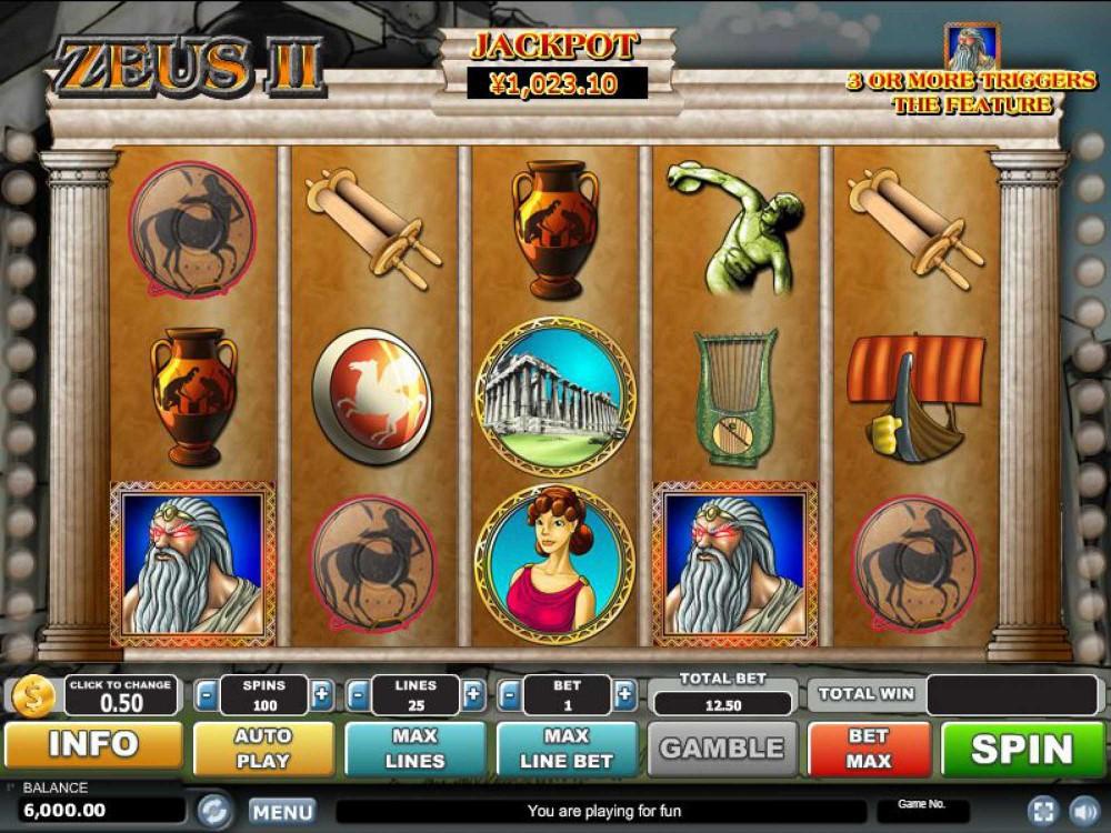 Zeus II Slot screenshot