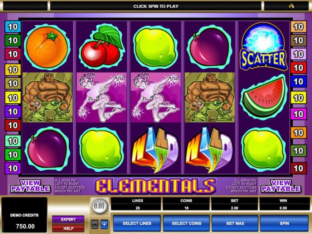 Slot machine elements