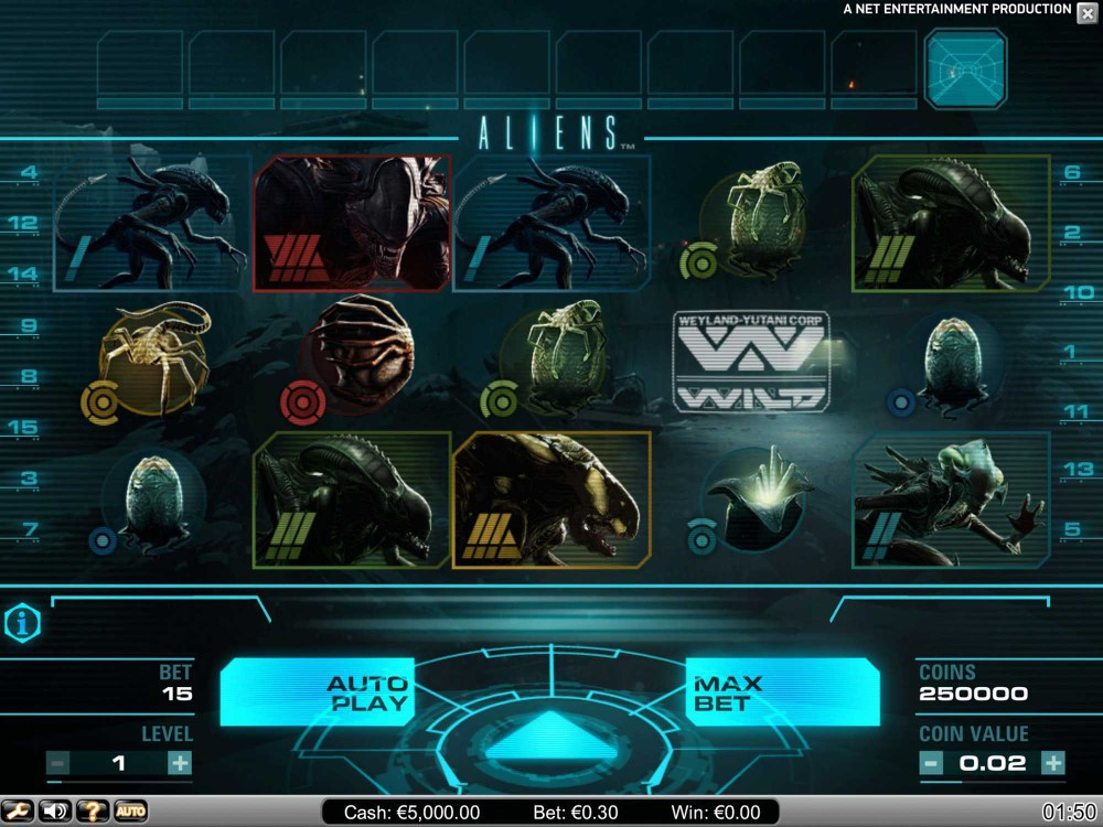Aliens Slot screenshot