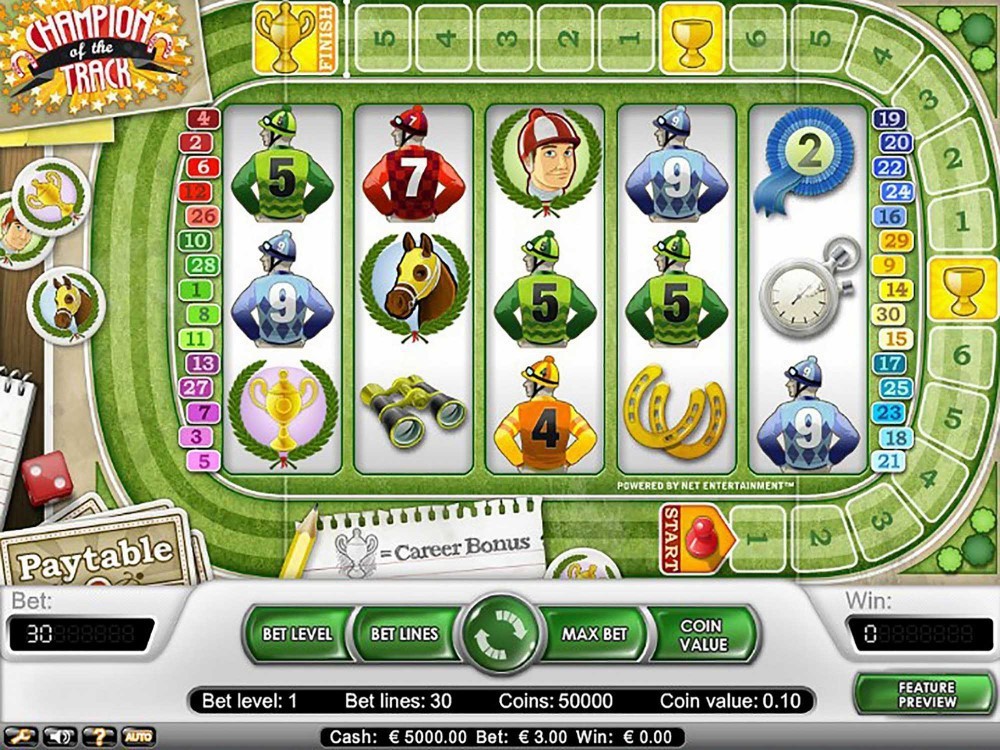 Champion of the Track Slot screenshot