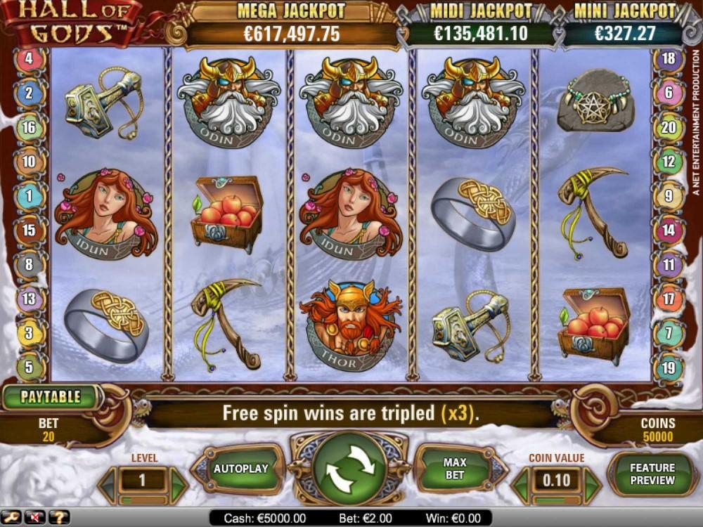 Hall of Gods Slot screenshot