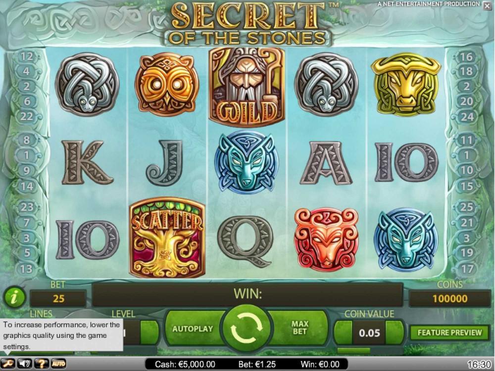 Secret of the Stones Slot screenshot