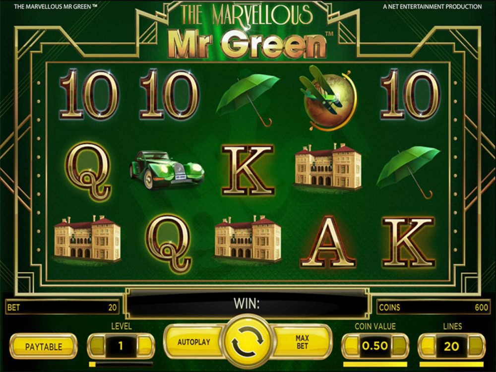 The Marvellous Mr Green Slot screenshot