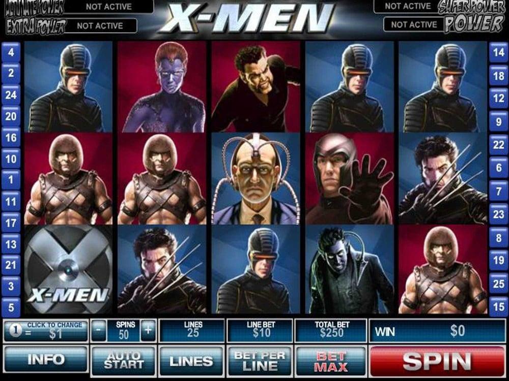 X-Men 50 Lines Slot screenshot