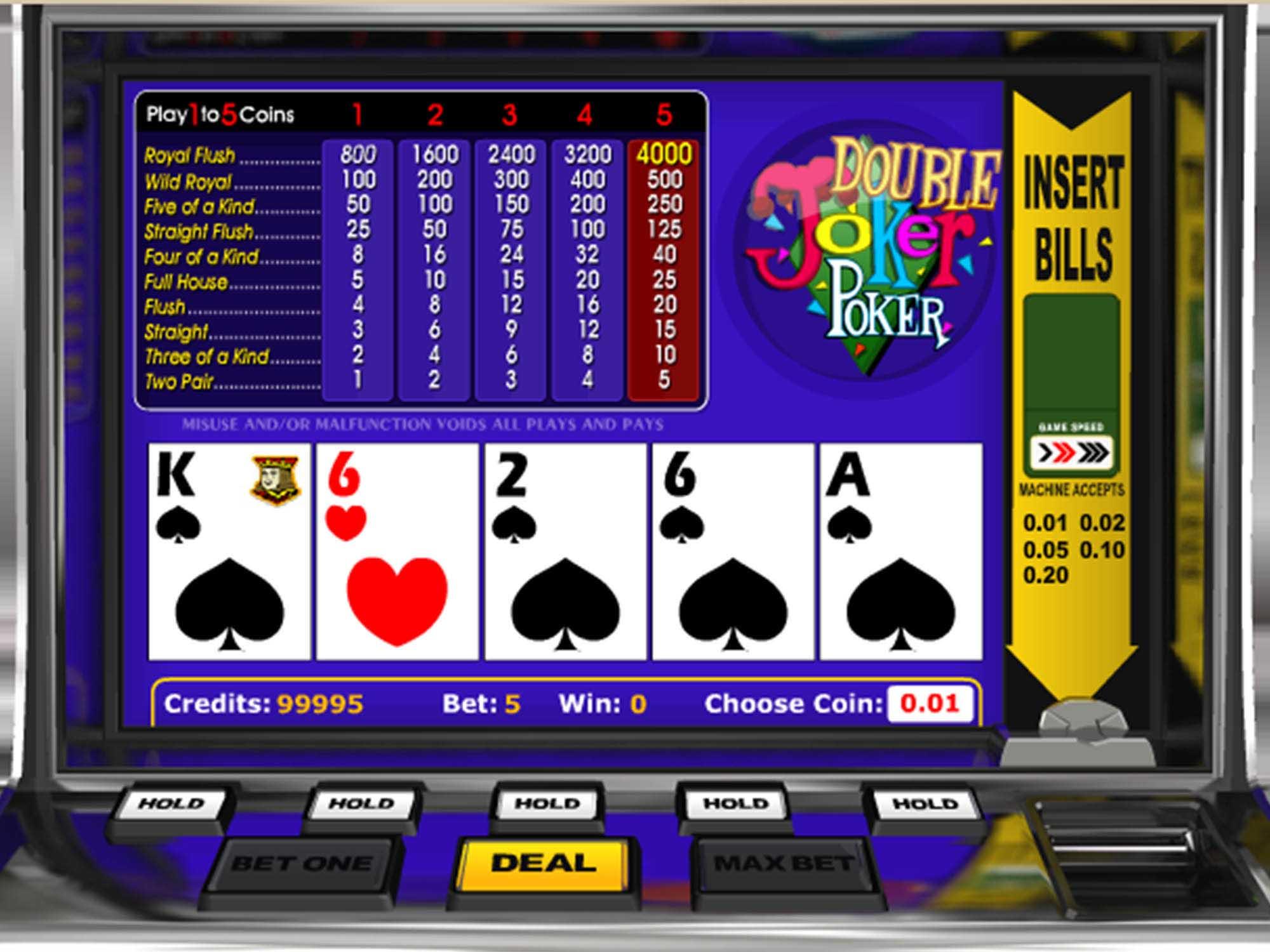 Double Joker Poker screenshot