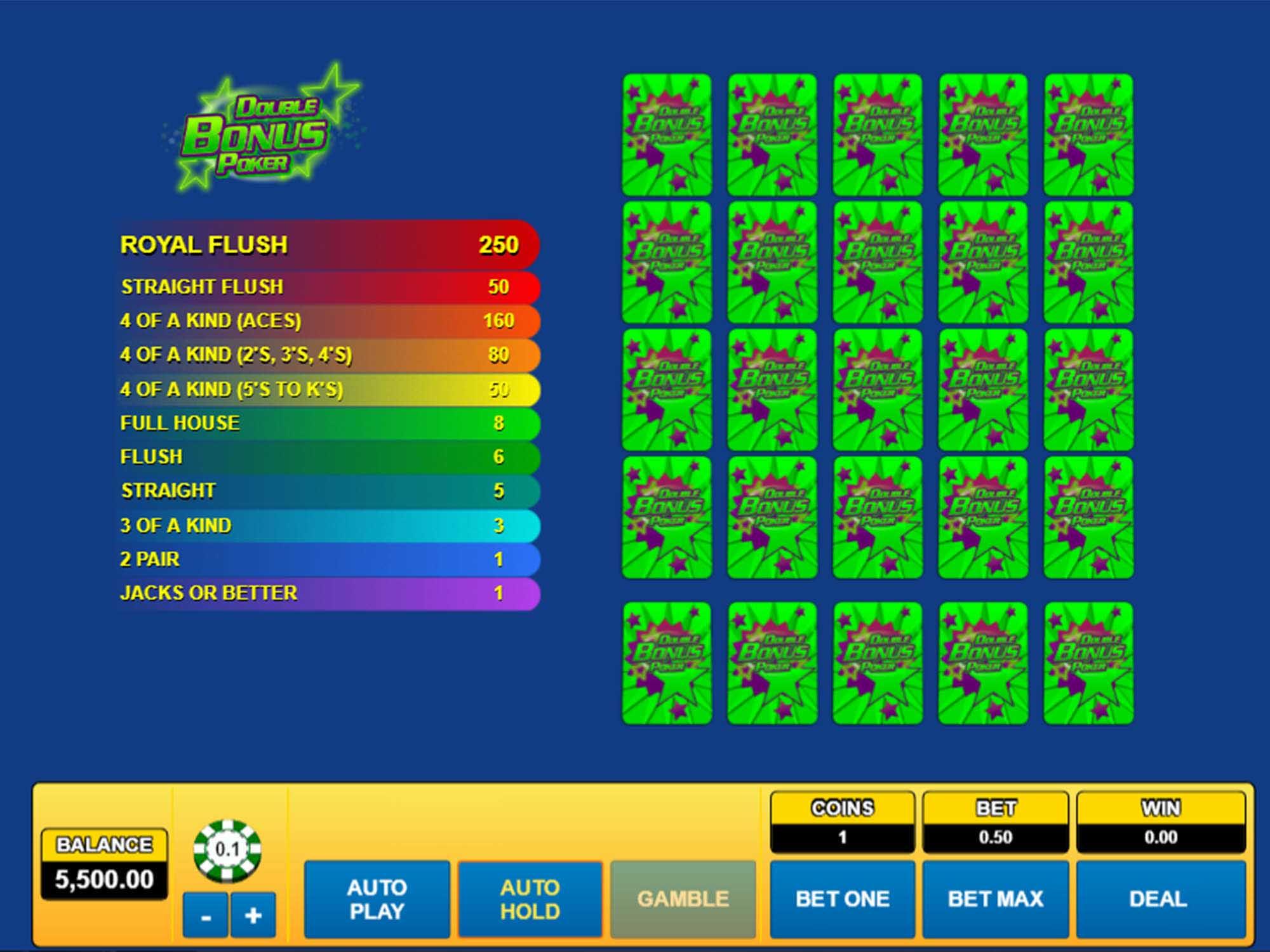 Double Bonus Poker screenshot